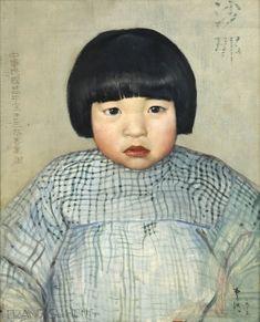 Portrait of a Chinese child....Paris circa 1920s.