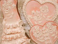Hearts and wedding dress