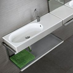 Area wall basin, shown with tap hole, towel rail & towel shelf (optional) Towel Shelf, Towel Rail, Shower Suites, Your Style, Shelves, Traditional, Contemporary, Sinks, Home Decor