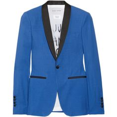 d65b23da735a EACH X OTHER Crepe tuxedo jacket ($743) ❤ liked on Polyvore Cobalt Blazer,