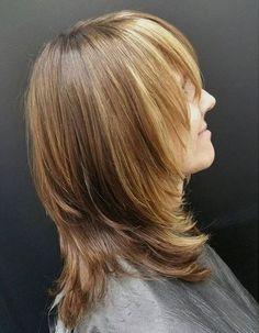 layered haircut with bangs