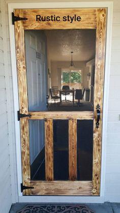 Patio Screen Door with Doggie Door . Patio Screen Door with Doggie Door . 18 Diy Screen Door Ideas with Images Home Diy, Diy Screen Door, Cheap Home Decor, Rustic House, Woodworking Projects Diy, Home Remodeling, New Homes, Home Projects, Rustic Home Decor