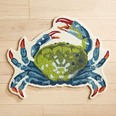 Pier 1 Imports Colorful Crab-Shaped Rug. Turn your bathroom or patio into a coastal paradise with our crab rug. Our clawed crustacean brings a pop of color wherever he goes. Multicolor 3'W x 2'6'L #ad #CommissionLink