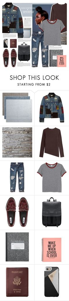 """""""FashionTrend- Casual day style"""" by juhh ❤ liked on Polyvore featuring Modern-twist, Junya Watanabe, Tozai, Steffen Schraut, Abercrombie & Fitch, Monki, Anja, Royce Leather, Casetify and casualoutfit"""