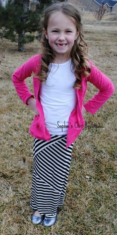 4f2d650d6f Girls Maxi Skirt- Black and White Multi Directional only  19.99 at  www.sophieschicboutique.
