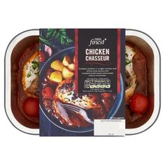 Tesco Finest Chicken Chasseur - 1 syn each Slimming World Ready Meals, Slimming World Tesco, Slimming World Survival, Slimming World Syn Values, Slimming World Recipes Syn Free, Slimming Workd, Syn Free Food, Sweet Chilli, Food Packaging