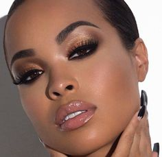This look is flawless!! Love it!! Best Makeup for Brown Skin - Makeup for Black Women MAC Midimauve lipstick