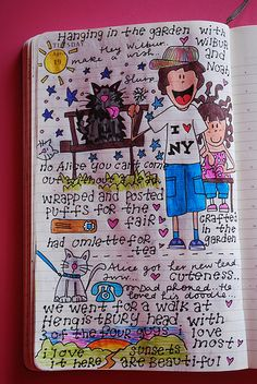 Journal drawing   Mixed journal pages/fantastic