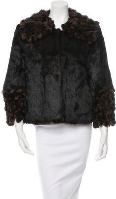 Fur Fringe-Trimmed Jacket w/ Tags Fur, Tags, Stylish, Jackets, Women, Down Jackets, Women's, Furs, Jacket