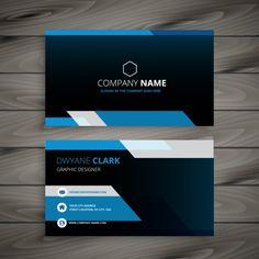 темно-синий визитная карточка Бесплатные векторы Sample Business Cards, Business Card Design, Art Design, Graphic Design, B Names, Name Cards, Company Names, Brochure Design, Tutorial
