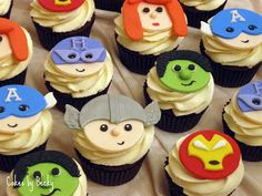 Cakes by Becky: Avengers Cupcakes