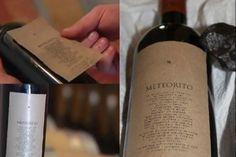 Un vino hecho con un meteorito de 4.500 Millones de años de antiguedad...