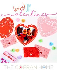 Easy DIY Valentines you can do with kids or on your own! www.thecofranhome.com