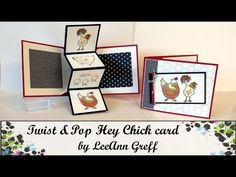 Hey Chick Pop & Twist card with how to video & templates from Flowerbug's Inkspot