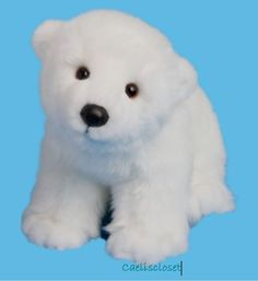 Douglas Plush Marshmallow POLAR BEAR Stuffed Animal Cuddle Toy NEW #DouglasCuddleToy