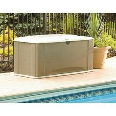 Outdoor Deck Box, Patio Storage, 121 Gal,With Seat,Brown