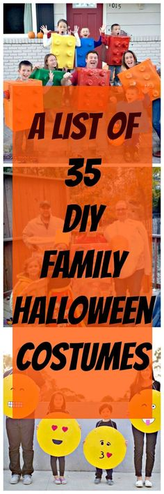 A great list of 35 DIY family Halloween Costumes! These families are so…