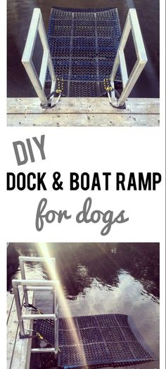 DIY Dock & Boat Ramp for Dogs. Easy to make, costs about $30, and my dog loves it! halifaxdogventures.com