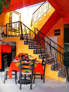 Mexico photo colorful photography stairway by ForestCityPhotos, $20.00