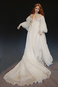 Arianna, polymer clay sculpture doll by Diane Keeler.