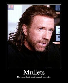Chuck Norris mullet