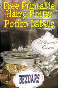 Create the perfect Harry Potter potions classroom or Halloween potions lab with these free printable potion labels. Simply save, print, and add to a jar of your favorite Halloween candies for the perfect dessert table. Check out the potion label candy ideas included.  #harrypotterpotionslabels #printablepotionlabels #halloweenpotionlabels #diypartymomblog