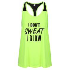 Rock your workout in this sassy neon yellow slogan vest.  Featuring a mesh racerback design, plus sweat wicking and quick drying properties,  it also features a loose fit for a comfortable and stylish workout.  As this is a loose fit vest, if you would like a more fitted look, please size down. Slogan Tops, Workout Vest, Neon Yellow, Loose Fit, Sassy, Athletic Tank Tops, Mesh, Rock, Stylish