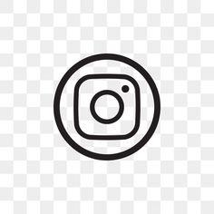 Instagram Logo Transparent, Black Social Media Icons, Social Icons, New Instagram Logo, Instagram Frame, Icon Design, Web Design, Resume Design, Backgrounds