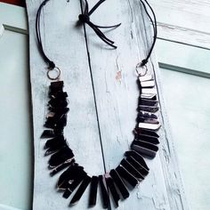 CHUNKY BLACK AGATE NECKLACE