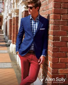 Skip the tie and trouser look. Try our Chinos with a sleek blazer instead.