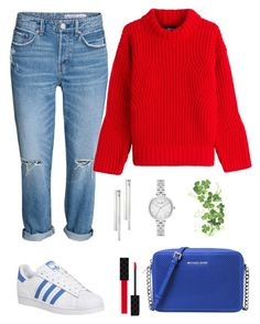 """""""Popular."""" by schenonek on Polyvore featuring moda, Michael Kors, adidas, Gucci, Dsquared2, Kain, Kate Spade y Ulster Weavers"""