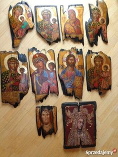 Religious Icons, Religious Art, Stone Painting, Painting On Wood, Greek Icons, Leather Tooling Patterns, Byzantine Icons, Decoupage Art, Catholic Art