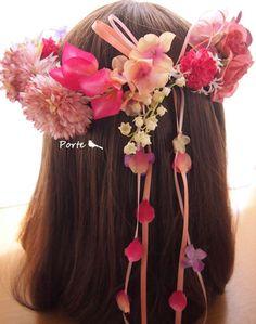 可愛いらしいランダムな花冠 ウェディングブーケ・花冠・通販専門店「ぽると」