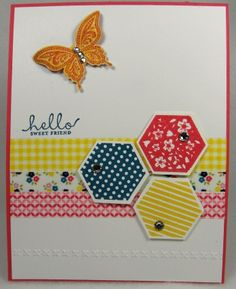 Designz By Gloria; Stampin Up Six Sided Sampler Card.  See my website for full tutorial instructions.