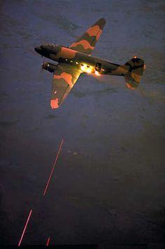 Vietnam War Journal: enrique262: Vietnam War, Puff the Magic Dragon. Also known as the Douglas AC-47 Spooky