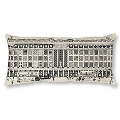 Charlene Mullen -want want want!  Now you can take an iconic piece of Selfridges home with you, thanks to Charlene Mullen. This hand-printed cushion cover and pad features an illustration of Selfridges' flagship London Oxford Street store. Due to the nature of hand printing there may be slight variation in colour from that shown