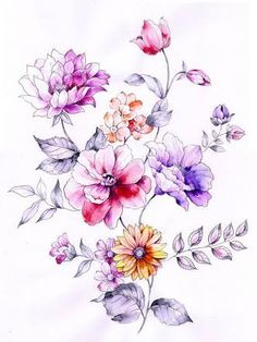 「手绘 花卉」の画像検索結果