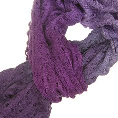 To achieve the beautiful colour graduations, I hand-paint these scarves - after knitting. The colours ...
