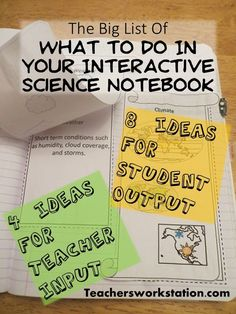 The Interactive Science Notebook Interactive Notebooks are great for students to reflect on what they have learned. Encourage them to record their ideas and findings! Here is the method I use for w…