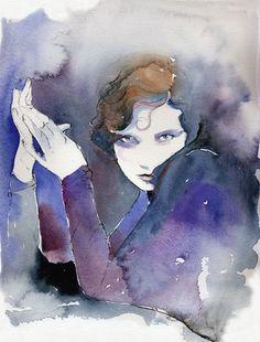De douces aquarelles de #mode >> Cate Parr. Watercolor Fashion