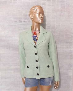 90s light green cashmere cardigan pastel green cashmere by IuSshop