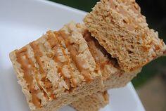 Biscoff Rice Krispie Treats - Shugary Sweets