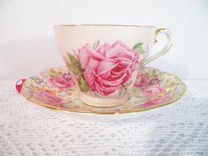 Bone China Teacup And Saucer Pink Roses