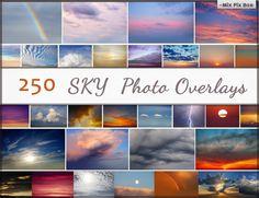 Sky Photo Overlays clouds photoshop sunset sky by MixPixBox