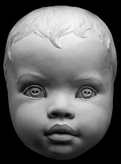 Infant Human Face Aging Process Sculpting Reference