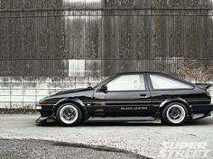 1985 Toyota Corolla Black Limited - Always Bet On Black - Super Street Magazine Corolla Ae86, Toyota Corolla, Japanese Sports Cars, Japanese Cars, Tuner Cars, Jdm Cars, Cars Auto, Toyota Cars, Toyota Supra