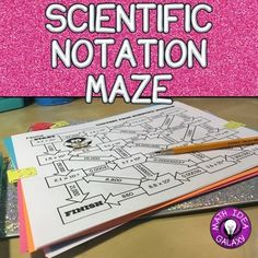 Students love this scientific notation maze game to get great practice! These three mazes in one great activity are an engaging way to practice working with scientific notation and converting to and from scientific notation. Science Games, Teaching Science, Teaching Tools, Physical Science, Math Resources, Math Activities, Math Lab, Scientific Notation, Labyrinth