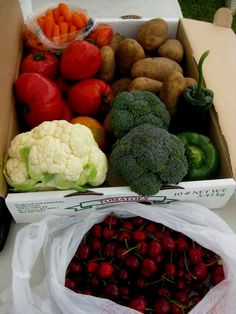 The fruits and veggi
