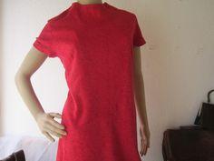 Vintage Kleider - Original 50er Jahre Kleid Magenta M/L - ein Designerstück von Kleiderzeitreise bei DaWanda