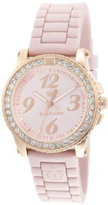 Juicy Couture : Juicy Couture Women's 1900723 Pedigree Pink Jelly Strap Watch